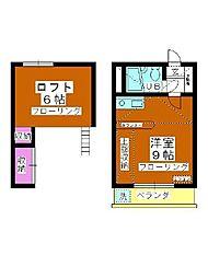 B・S HOUSE[205号室]の間取り
