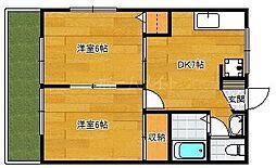 ムーン乙金台[1階]の間取り