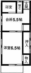 メゾン桜木[101号室]の間取り