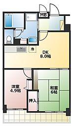 ドルミ若葉[5階]の間取り