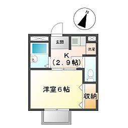 タウニー21[1階]の間取り