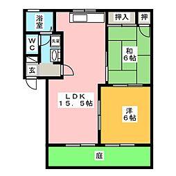 ルネッサンスステージII[1階]の間取り