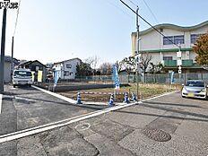 接道状況および現場風景 小金井市緑町4丁目