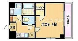 Osaka Metro谷町線 都島駅 徒歩9分の賃貸マンション 7階1Kの間取り