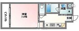 沖縄都市モノレール 赤嶺駅 徒歩25分の賃貸マンション 4階1Kの間取り