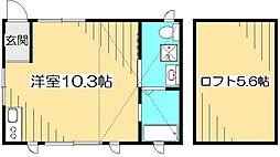メザンジュ[2階]の間取り