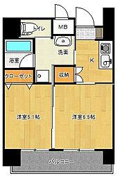 ヒルズ乃木坂[0904号室]の間取り
