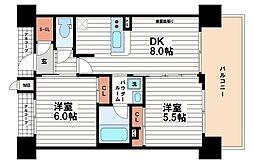 エステムプラザ心斎橋EAST4ブランディア[11階]の間取り