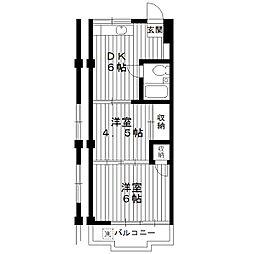 東京都練馬区羽沢3丁目の賃貸マンションの間取り
