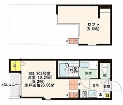 仮)大阪市東淀川区下新庄二丁目・SKHコーポ[2階]の間取り