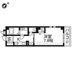 CASA桂徳 3階1Kの間取り