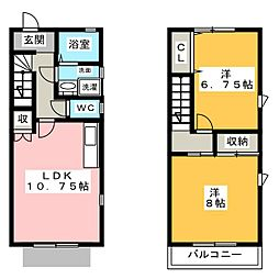 クオーレ[1階]の間取り