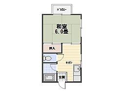 第2横石ハイツ[203号室]の間取り