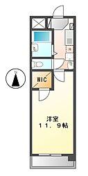 スターシャインミズホ[5階]の間取り