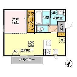 (仮)D-room寺尾台[B201号室]の間取り