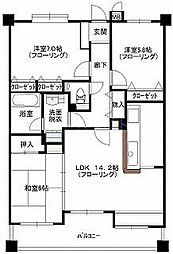 チェリーマンション高宮[3階]の間取り