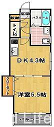 ローズモントフレア博多[2階]の間取り