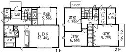 [一戸建] 兵庫県川西市清和台東2丁目 の賃貸【/】の間取り