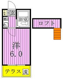 千葉県松戸市小金清志町3丁目の賃貸アパートの間取り