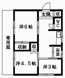 [一戸建] 静岡県浜松市中区向宿3丁目 の賃貸【静岡県 / 浜松市中区】の間取り