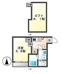ハミングライフ(HUMMING LIFE)中村区役所[1階]の間取り