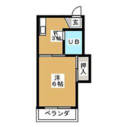 ホワイトビラ[2階]の間取り