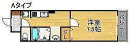 双輪建物第7コーポ[1階]の間取り