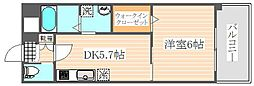 福岡県福岡市博多区千代5丁目の賃貸マンションの間取り