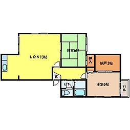 北海道札幌市中央区北八条西18丁目の賃貸マンションの間取り