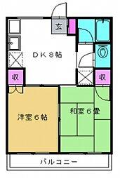 千葉県我孫子市高野山の賃貸アパートの間取り