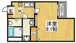 エヌエムキャラントサンク(サウス)[2階]の間取り