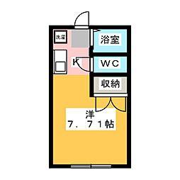 鶴松[1階]の間取り