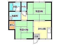 兵庫県小野市王子町の賃貸アパートの間取り