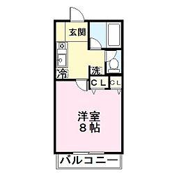 ディアハイム鴻池[4階]の間取り