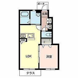 兵庫県加東市社の賃貸アパートの間取り