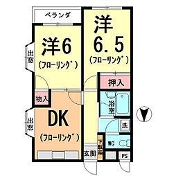 本郷第一マンション[301号室]の間取り