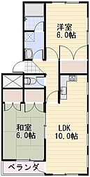 長野県長野市三輪4丁目の賃貸マンションの間取り