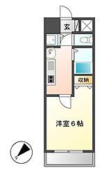 プレサンス新栄リミックス[5階]の間取り