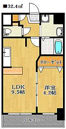 プレジール船橋本町[8階]の間取り