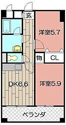 ニューシティアパートメンツ南小倉II[1013号室]の間取り