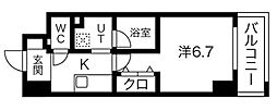JR中央本線 大曽根駅 徒歩3分の賃貸マンション 8階1Kの間取り