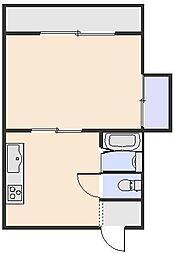 カーサナカムラ[2-B号室]の間取り