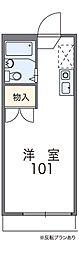 泉北高速鉄道 和泉中央駅 徒歩15分の賃貸アパート 1階1Kの間取り
