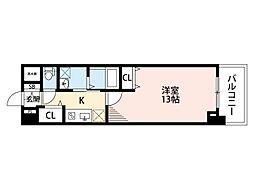 メゾンリバー・サイド[4階]の間取り