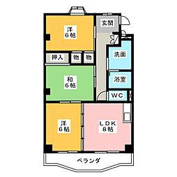 WAVE HOUSE[1階]の間取り
