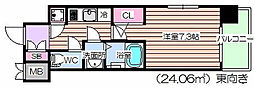 レジュールアッシュ福島キューズ[6階]の間取り