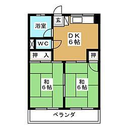 コーポタニグチ[2階]の間取り