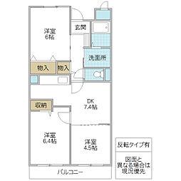 フローレスSUZUKI[101号室号室]の間取り