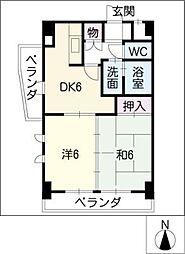 加福本通ビル[4階]の間取り