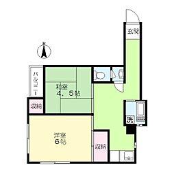 ブランハイム[3階]の間取り